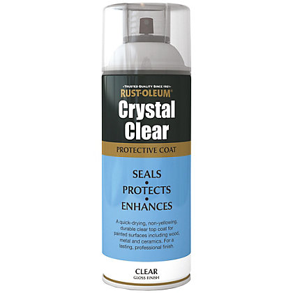Image for Rust-Oleum Gloss Spray Paint - Crystal Clear - 400ml from StoreName