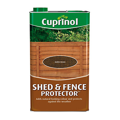 Image for Cuprinol Shed and Fence Protector - Golden Brown - 5L from StoreName