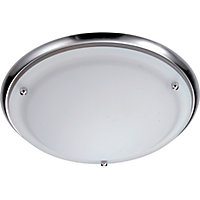 Diana Bathroom Flush Light - Satin Nickel