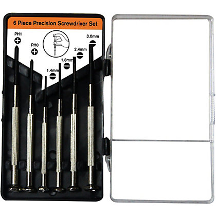 Image for Homebase Value 6 Piece Precision Screwdriver Set from StoreName