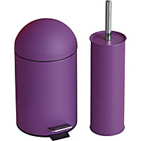 for Purple bathroom bin