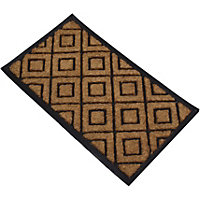Rubber Doormat - Natural Check - 70 x 40cm