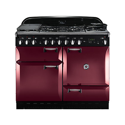 Image for Rangemaster Elan 110cm Dual Fuel Range Cooker - Cranberry from StoreName