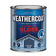 Homebase Weathercoat Oxford Blue - Exterior Gloss Paint - 750ml