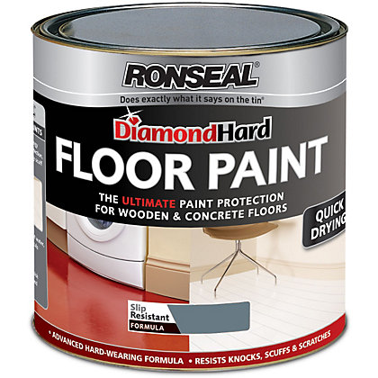 Ronseal Diamond Hard Slate Floor Paint 750ml
