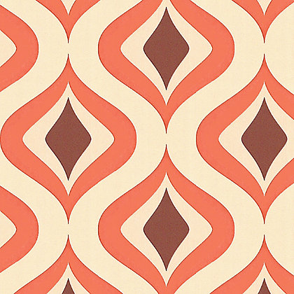 Image for Superfresco Easy Paste the Wall Trippy Wallpaper - Orange from StoreName