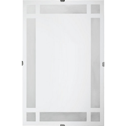Image for Unframed Block Frosted Glass Mirror from StoreName
