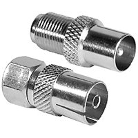 Homebase - F-Lead To Coaxial Adaptors - Pack of 2
