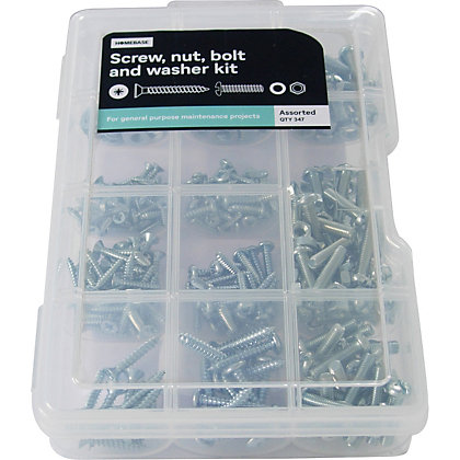 Image for Screw, Nut and Washer Kit - Assorted - 347 Pack from StoreName