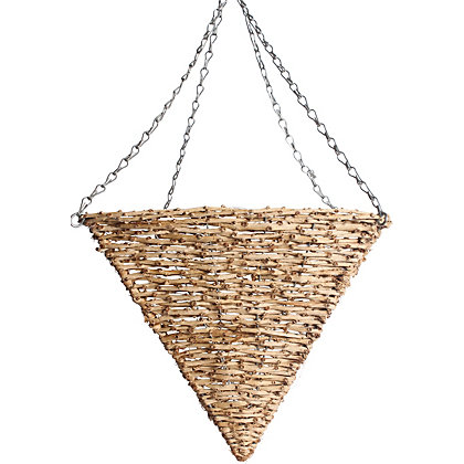 Image for Square Cone Rattan Hanging Basket from StoreName