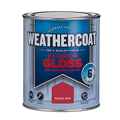 Homebase weathercoat regal red exterior gloss paint 750ml - Homebase exterior paint minimalist ...