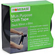 Cloth Tape - Black - 50mm x 50m