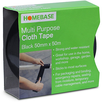 Image for Cloth Tape - Black - 50mm x 50m from StoreName