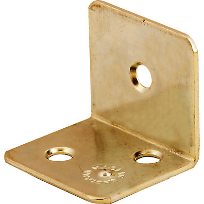 Image for Corner Brace Brass Plated - 25mm - Pack Of 4 from StoreName