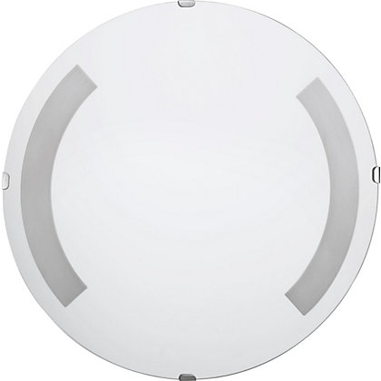 Image for Unframed Round Bubble Frosted Glass Mirror from StoreName