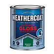 Homebase Weathercoat Regency Green - Exterior Gloss Paint - 750ml