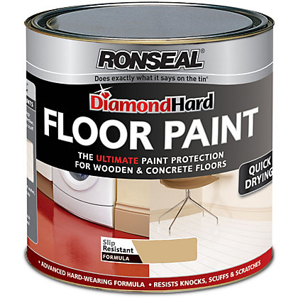 Image for Ronseal Diamond Hard Pebble Stone - Floor Paint - 750ml from StoreName