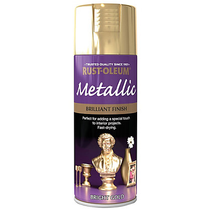Image for Rust-Oleum Bright Gold - Metallic Spray Paint - 400ml from StoreName