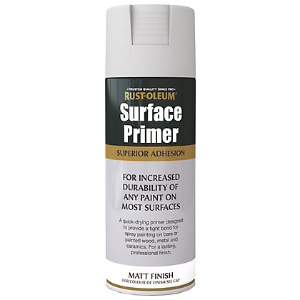 Image for Rust-Oleum Surface Primer Spray Paint - Grey - 400ml from StoreName
