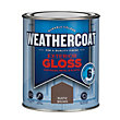 Homebase Weathercoat Rustic Brown - Exterior Gloss Paint - 750ml
