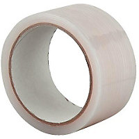 Homebase All Weather Clear Tape - 50mm x 20m
