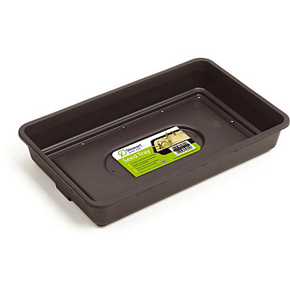 Image for 38cm Black Seed Tray with Holes from StoreName