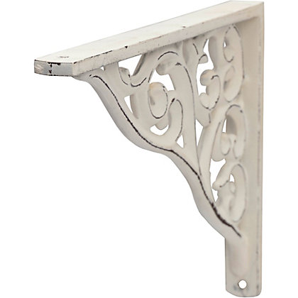 Image for Distressed Baroque Bracket - White from StoreName