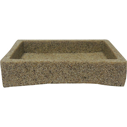 Image for Stone Effect Soap Dish - Beige from StoreName