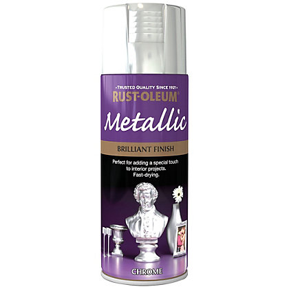 Image for Rust-Oleum Metallic Brilliant Finish – Chrome Spray Paint – 400ml from StoreName