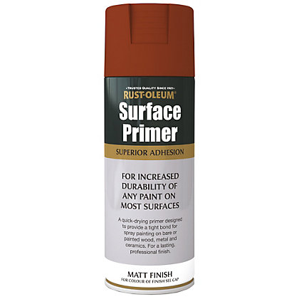 Image for Rust-Oleum Surface Primer Spray Paint - Red - 400ml from StoreName