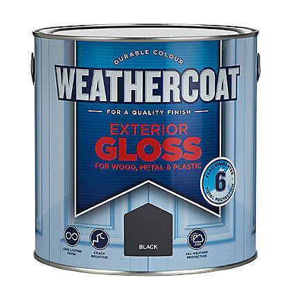 Image for Weathercoat Black - Exterior Gloss Paint - 2.5L from StoreName