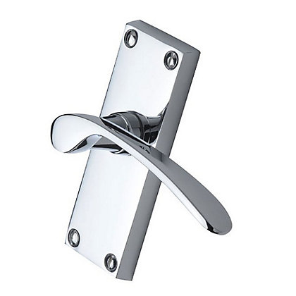 Image for Sophia Latch Door Handle - Polished Chrome - 1 Pair from StoreName