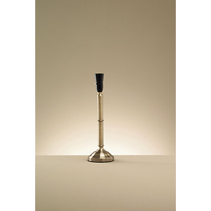 Image for Thick Candlestick Table Lamp Base - Antique Brass Effect from StoreName