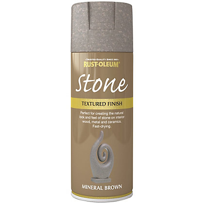 Image for Rust-Oleum Stone Spray Paint - Mineral Brown - 400ml from StoreName