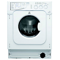 Indesit Ecotime IWDE 126 Built-in Washer Dryer - White