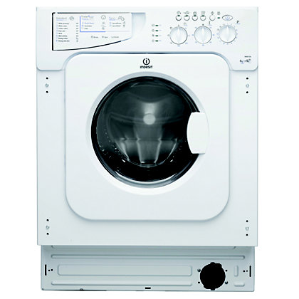 Image for Indesit Ecotime IWDE 126 Built-in Washer Dryer - White from StoreName