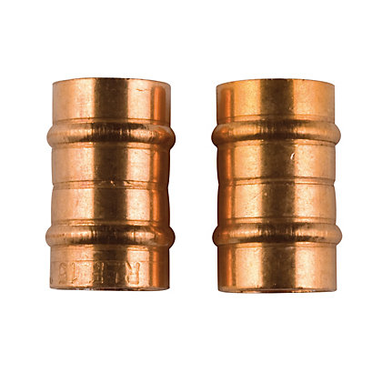 Image for Solder Ring Connector - Copper - 15mm - 2 Pack from StoreName