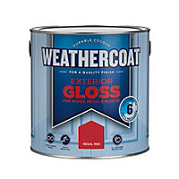 Homebase Weathercoat Regal Red - Exterior Gloss Paint - 2.5L
