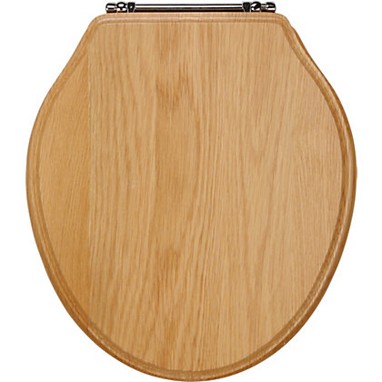 Natural Oak Laura Ashley Abbey Toilet Seat With Bar Hinge
