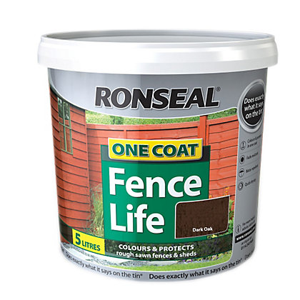 Image for Ronseal One Coat Fence Life Dark Oak - 5L from StoreName