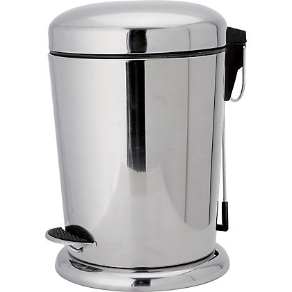 Image for 5L Pedal Bin- Stainless Steel from StoreName