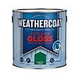 Homebase Weathercoat Regency Green - Exterior Gloss Paint - 2.5L