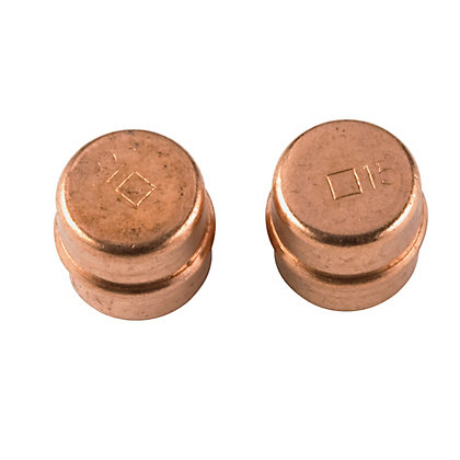 Image for Solder Ring Stopend - Copper - 15mm - 2 Pack from StoreName