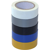 Electrical Tape - 19mm x 10m - 5 Pack