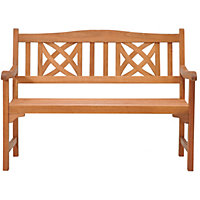 Peru Ornate 2 Seater Wooden Garden Bench