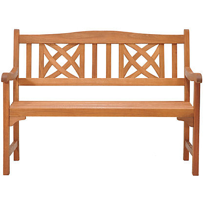 Image for Peru Ornate 2 Seater Wooden Garden Bench from StoreName