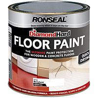 Ronseal Diamond Hard White - Floor Paint - 750ml
