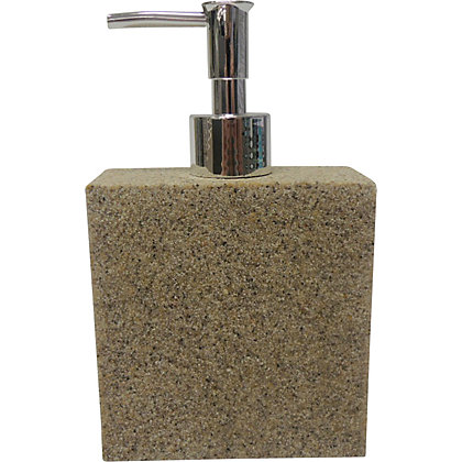 Image for Stone Effect Soap Dispenser - Beige from StoreName