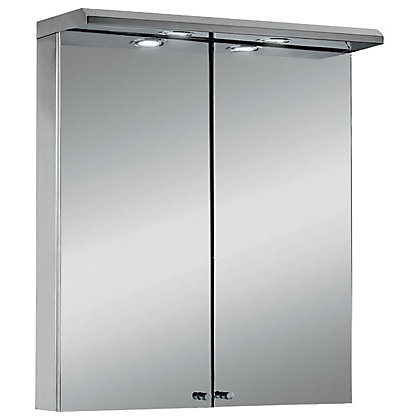 aurora illuminated cabinet stainless steel