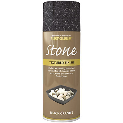 Image for Rust-Oleum Stone Spray Paint - Black Granite - 400ml from StoreName